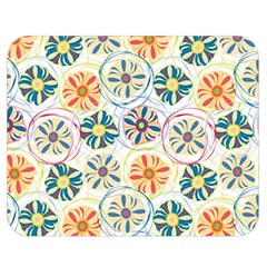 Flower Rainbow Fan Sunflower Circle Sexy Double Sided Flano Blanket (medium)  by Mariart