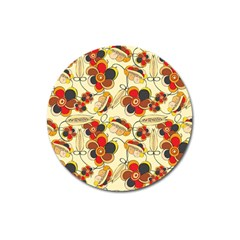 Flower Seed Rainbow Rose Magnet 3  (round) by Mariart