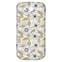 Flower Rose Sunflower Gray Star Samsung Galaxy S3 S Iii Classic Hardshell Back Case by Mariart