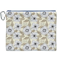 Flower Rose Sunflower Gray Star Canvas Cosmetic Bag (xxxl) by Mariart