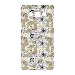 Flower Rose Sunflower Gray Star Samsung Galaxy A5 Hardshell Case  by Mariart