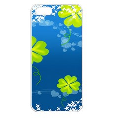 Flower Shamrock Green Blue Sexy Apple Iphone 5 Seamless Case (white) by Mariart