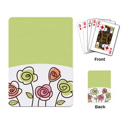Flower Simple Green Rose Sunflower Sexy Playing Card by Mariart