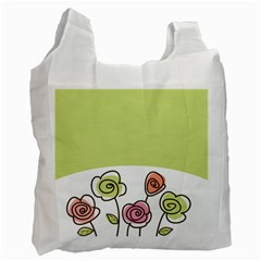Flower Simple Green Rose Sunflower Sexy Recycle Bag (one Side) by Mariart