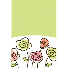 Flower Simple Green Rose Sunflower Sexy 5 5  X 8 5  Notebooks by Mariart