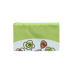 Flower Simple Green Rose Sunflower Sexy Cosmetic Bag (xs) by Mariart