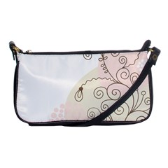 Flower Simple Pink Shoulder Clutch Bags by Mariart