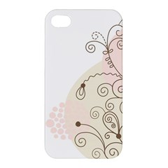 Flower Simple Pink Apple Iphone 4/4s Hardshell Case by Mariart