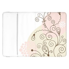 Flower Simple Pink Samsung Galaxy Tab 8 9  P7300 Flip Case by Mariart