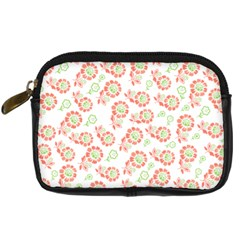 Flower Rose Red Green Sunflower Star Digital Camera Cases by Mariart