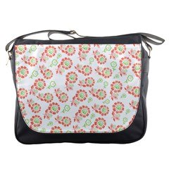 Flower Rose Red Green Sunflower Star Messenger Bags by Mariart
