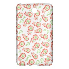 Flower Rose Red Green Sunflower Star Samsung Galaxy Tab 4 (8 ) Hardshell Case  by Mariart