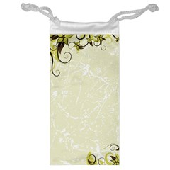 Flower Star Floral Green Camuflage Leaf Frame Jewelry Bag by Mariart