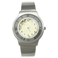 Flower Star Floral Green Camuflage Leaf Frame Stainless Steel Watch by Mariart