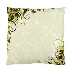 Flower Star Floral Green Camuflage Leaf Frame Standard Cushion Case (one Side) by Mariart
