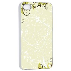 Flower Star Floral Green Camuflage Leaf Frame Apple Iphone 4/4s Seamless Case (white) by Mariart
