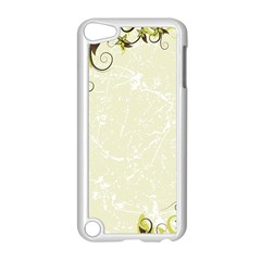Flower Star Floral Green Camuflage Leaf Frame Apple Ipod Touch 5 Case (white) by Mariart