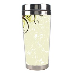 Flower Star Floral Green Camuflage Leaf Frame Stainless Steel Travel Tumblers by Mariart
