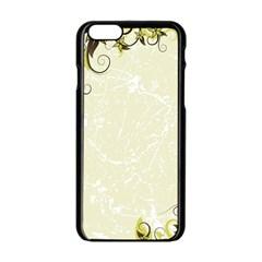 Flower Star Floral Green Camuflage Leaf Frame Apple Iphone 6/6s Black Enamel Case by Mariart