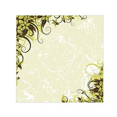 Flower Star Floral Green Camuflage Leaf Frame Small Satin Scarf (square) by Mariart