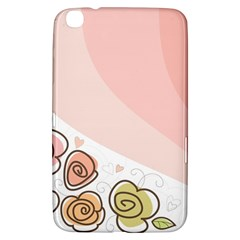 Flower Sunflower Wave Waves Pink Samsung Galaxy Tab 3 (8 ) T3100 Hardshell Case  by Mariart