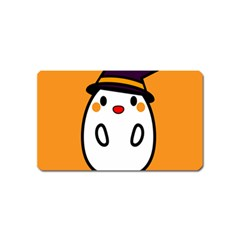 Halloween Ghost Orange Magnet (name Card) by Mariart