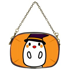 Halloween Ghost Orange Chain Purses (one Side)  by Mariart