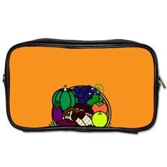 Healthy Vegetables Food Toiletries Bags 2 Side by Mariart