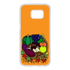 Healthy Vegetables Food Samsung Galaxy S7 Edge White Seamless Case by Mariart