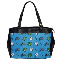 Frog Ghost Rain Flower Green Animals Office Handbags by Mariart