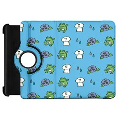 Frog Ghost Rain Flower Green Animals Kindle Fire Hd 7  by Mariart