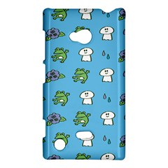 Frog Ghost Rain Flower Green Animals Nokia Lumia 720 by Mariart