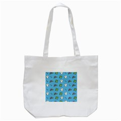 Frog Ghost Rain Flower Green Animals Tote Bag (white) by Mariart
