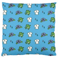 Frog Ghost Rain Flower Green Animals Standard Flano Cushion Case (one Side) by Mariart