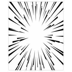 Line Black Sun Arrow Drawstring Bag (small) by Mariart