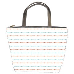Line Polka Dots Blue Red Sexy Bucket Bags by Mariart