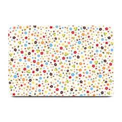 Flower Star Rose Sunflower Rainbow Smal Plate Mats by Mariart