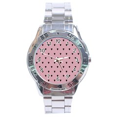 Love Black Pink Valentine Stainless Steel Analogue Watch by Mariart