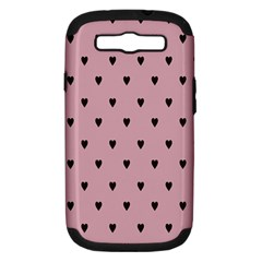 Love Black Pink Valentine Samsung Galaxy S Iii Hardshell Case (pc+silicone) by Mariart
