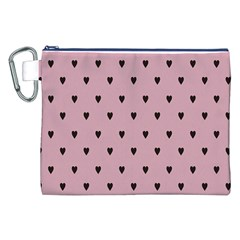 Love Black Pink Valentine Canvas Cosmetic Bag (xxl) by Mariart