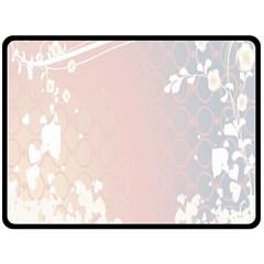 Love Heart Flower Purple Sexy Rose Double Sided Fleece Blanket (large)  by Mariart