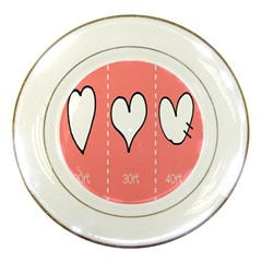 Love Heart Valentine Pink White Sexy Porcelain Plates by Mariart