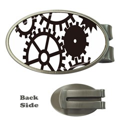 Machine Iron Maintenance Money Clips (oval)  by Mariart