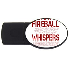 Fireball Whiskey Humor  Usb Flash Drive Oval (4 Gb) by crcustomgifts