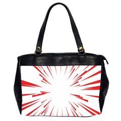 Line Red Sun Arrow Office Handbags (2 Sides)  by Mariart