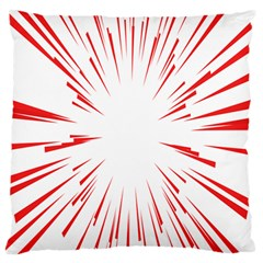Line Red Sun Arrow Large Flano Cushion Case (two Sides) by Mariart