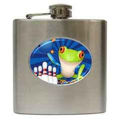 Tree Frog Bowling Hip Flask (6 Oz) by crcustomgifts