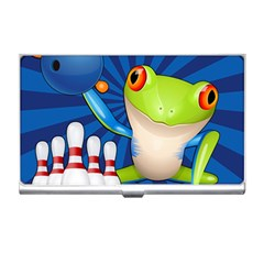 Tree Frog Bowling Business Card Holders by crcustomgifts