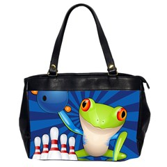 Tree Frog Bowling Office Handbags (2 Sides)  by crcustomgifts