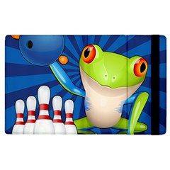 Tree Frog Bowling Apple Ipad 2 Flip Case by crcustomgifts